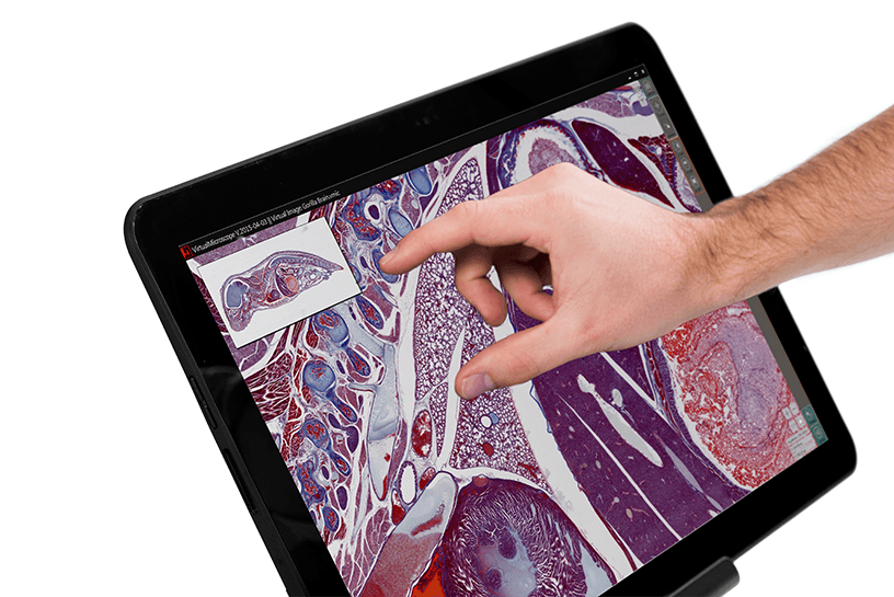 PreciPoint M8 Microscope and Scanner - Tablet Control