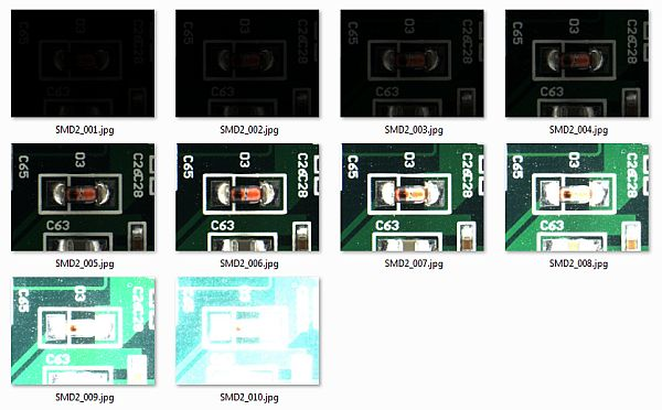 HDR Module - series of bracketed images for merging to HDR image